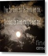 God Bless The Moon Metal Print