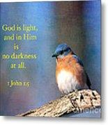 God Is Light Metal Print