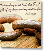 God Is My Strength Metal Print