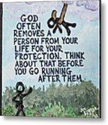 God Removes Metal Print