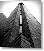 Goddard Stair Tower - Black And White Metal Print