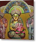 Goddess Durga Metal Print by Pradipkumarpaswan