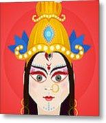 Goddess Maa Durga Metal Print