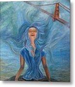 Goddess Of Golden Gate Brigde Metal Print