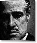 Godfather Marlon Brando Metal Print by Tony Rubino