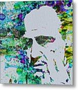 Godfather Watercolor Metal Print