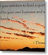 Godly Ambition Metal Print