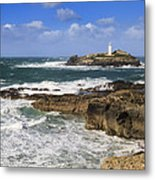 Godrevy Lighthouse - 5 Metal Print