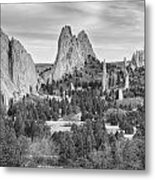 Gods Colorado Garden In Black And White    Metal Print