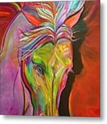 God's War Horse Metal Print