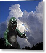 Godzilla Attacks Metal Print by William Patrick