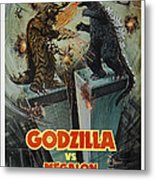 Godzilla Vs Megalon Poster Metal Print