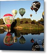 Going For A Dip Metal Print