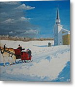 Going Home From Church Metal Print