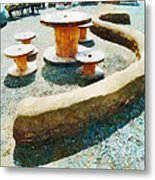 Going Round The Bend Metal Print