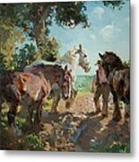 Going To Pasture Metal Print