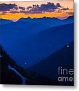 Going-to-the-sun Sunset Metal Print
