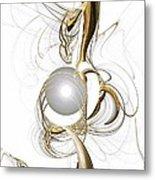 Gold And Pearl Metal Print