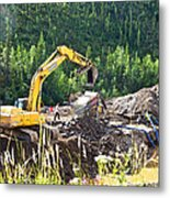 Gold At The End Of The Rainbow Along Taylor Highway-ak Metal Print