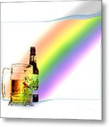 Gold At The End Of The Rainbow Metal Print