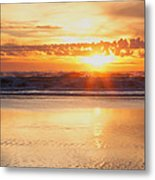 Gold Bluff Sunset Metal Print