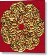 Gold Broach Metal Print