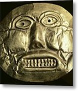 Gold Ceremonial Mask. Calima Art Metal Print