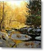 Gold Creek Glow Metal Print