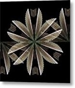 Gold Floral Abstract Metal Print