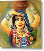 Gold Gauri Metal Print by Lila Shravani
