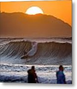 Gold Kaena Sunset Metal Print