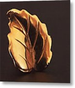 Gold Leaf Metal Print