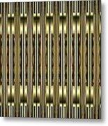Gold Metallic 18 Metal Print