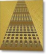 Gold Metallic 9 Metal Print