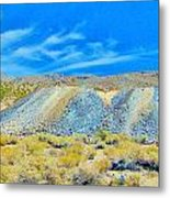 Gold Mine Tailings Metal Print