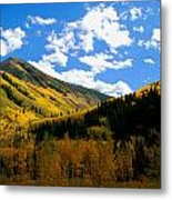Gold Mountains Metal Print