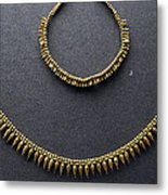 Gold Necklace Metal Print by Andonis Katanos