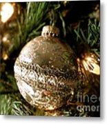 Gold Ornament Metal Print