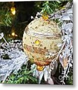 Gold Ornament Metal Print
