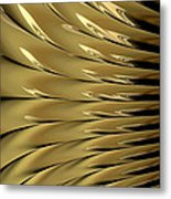 Gold Ridges Metal Print