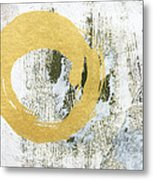 Gold Rush - Abstract Art Metal Print