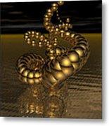 Gold Serpentine  Metal Print