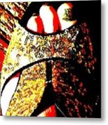 Gold Shoe Metal Print