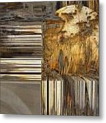 Gold Sphere Metal Print