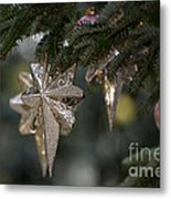 Gold Star Christmas Tree Ornament 4 Of 4 Metal Print