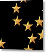 Gold Stars Abstract Triptych Part 2 Metal Print by Rose Santuci-Sofranko