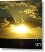 Gold Sunset Metal Print