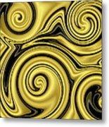 Gold Swirl Metal Print