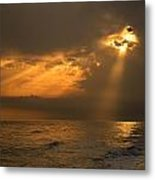 Gold Through The Clouds Metal Print