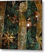 Gold Tones Tree Metal Print